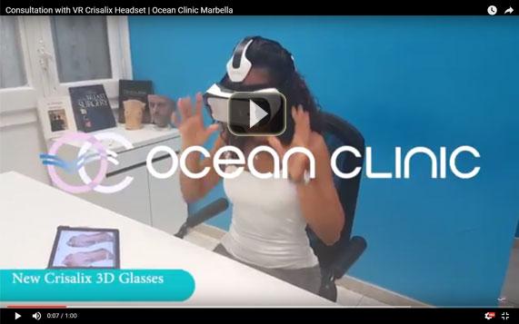 Consultas con VR Crisalix Headset Marbella Ocean Clinic