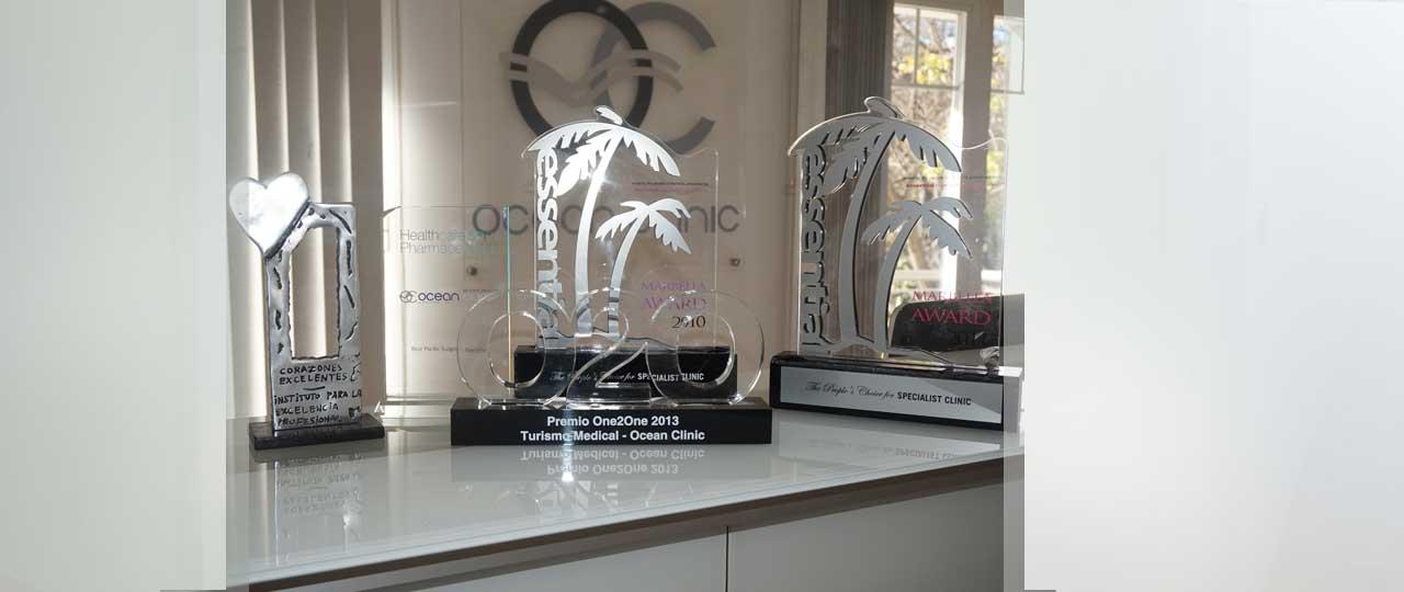 Auszeichnungen Klinik für Plastische Chirurgie Ocean Clinic Marbella Spanien