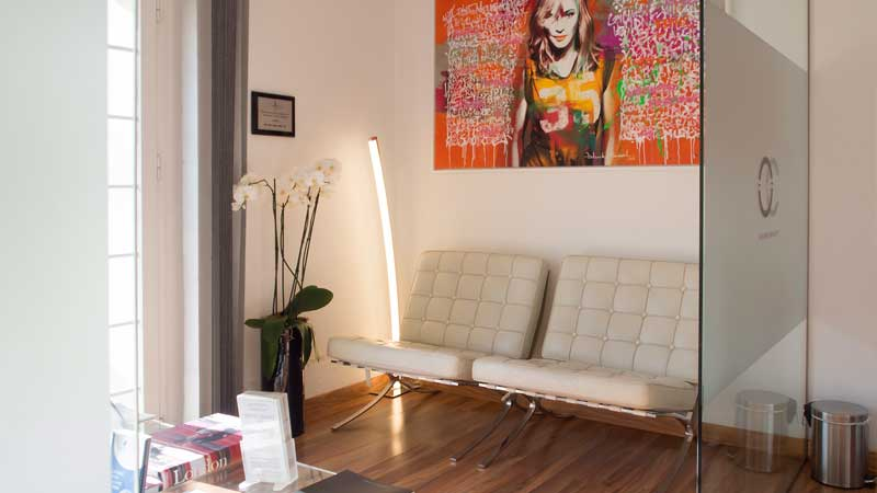 Health and Beauty Clinic Waiting Area. Marbella Ocean Clinic