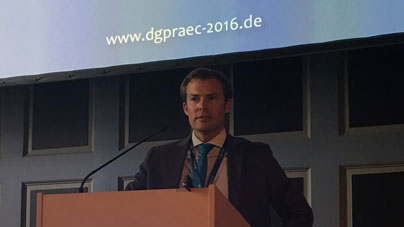 September 2016 Dr Kaye at the German national association of cosmetic surgeons DGPRÄC